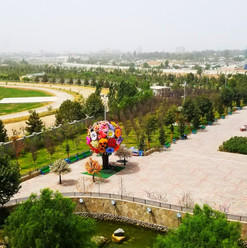 Dushanbe Hippodrome from Somoni Park