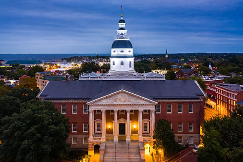 Maryland State House, in Annapolis, at d
