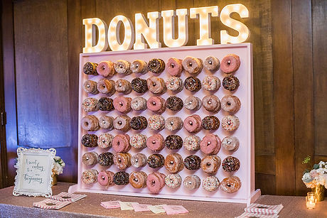 Donut Wall - Wedding Rental - Rockford
