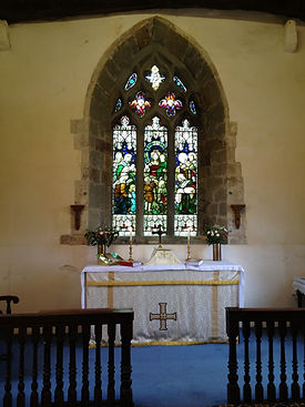 The sanctuary and east window