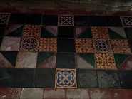 Minton tiles in the sanctuary