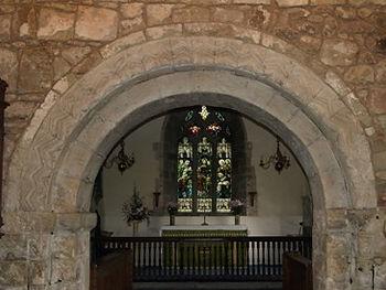 Norman chancel arch - 12thc