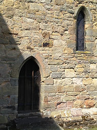 Chancel window and door - early 13thc