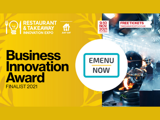 EMenu Now Nominated for Business Innovation Award at RTIE & RBTL!