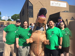 Earl the Tea-Rex with fans