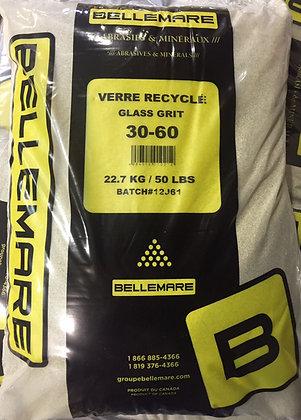 ABRASIF - VERRE RECYCLÉ (grade 30/60) 50 lbs