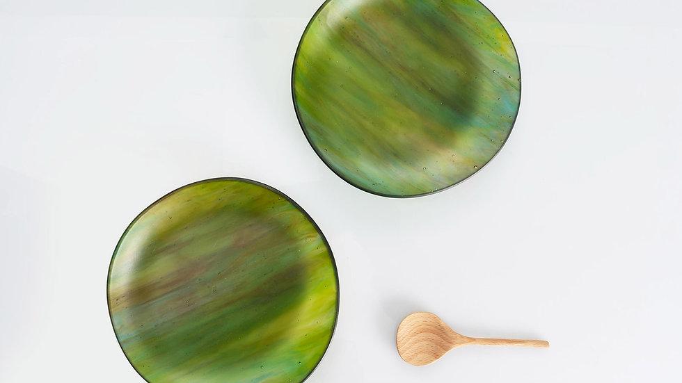 2 platos coupé verdosos