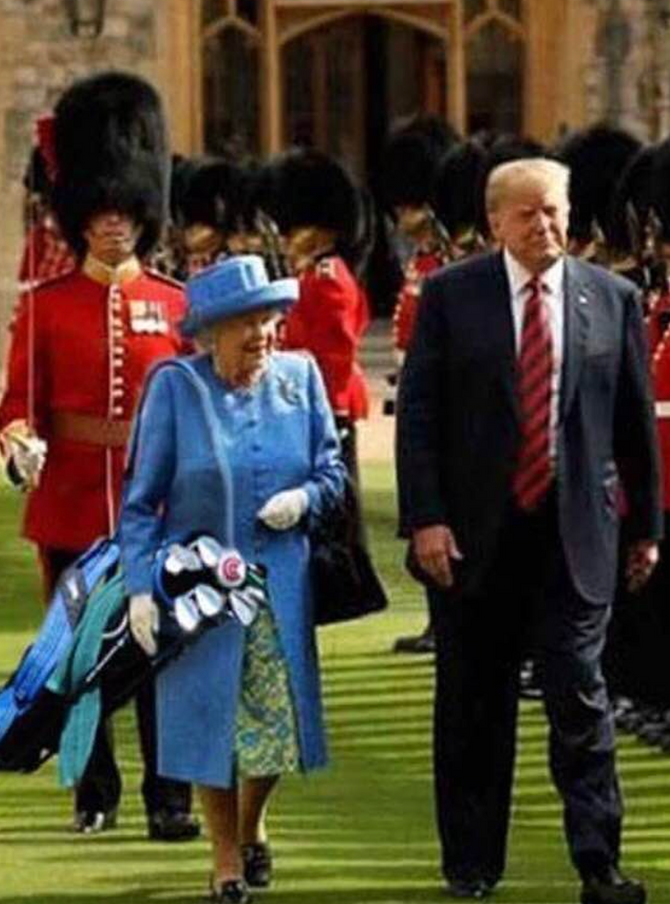 Queen-Caddy oder Caddy-Queen - treu an Donalds Seite...