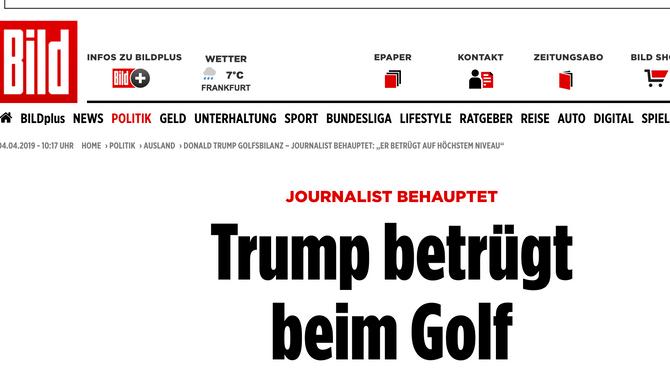 Wie US-Präsident Trump die Golfregeln für sich auslegt...allerdings nicht nur Trump!