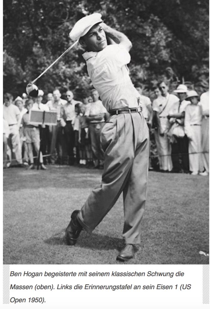 Ben Hogan und Tiger Woods - die Comeback-Helden