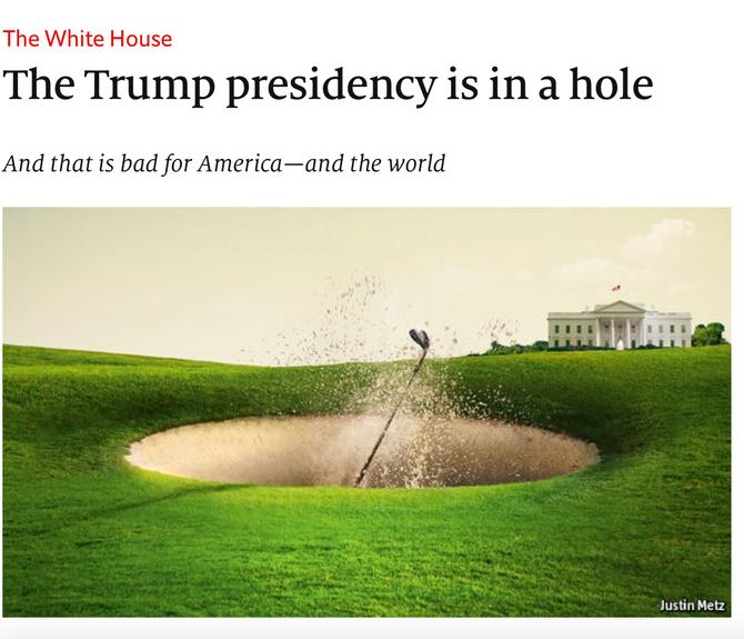 Trump im Bunker...