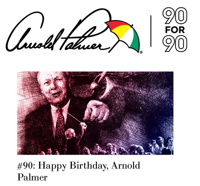 Arnold Palmer - The King drived auf den Fairways im Himmel!