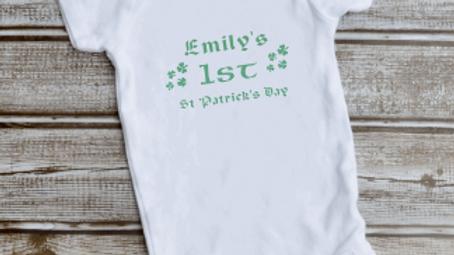 St Patrick's Day Baby Vest