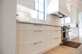White and Stained Kitchen and Bar