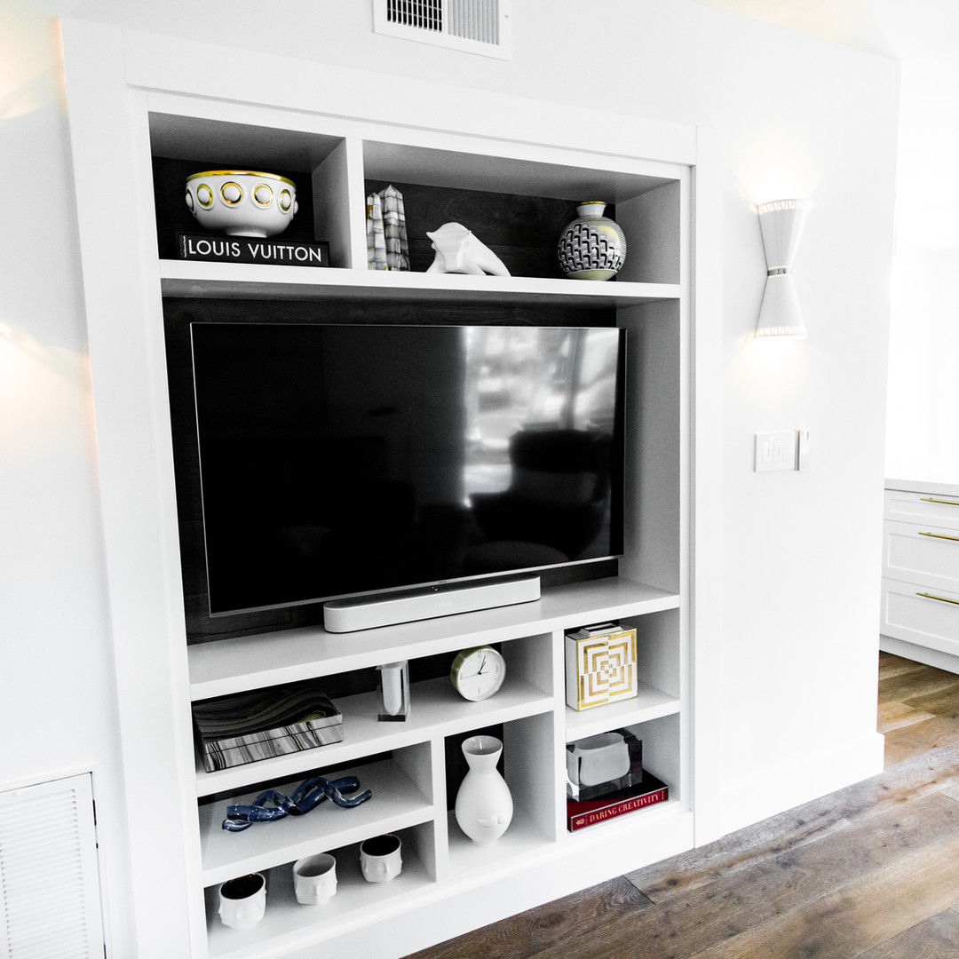 Built in tv unit.