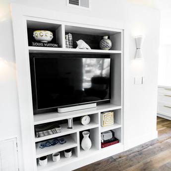 Built in tv unit.