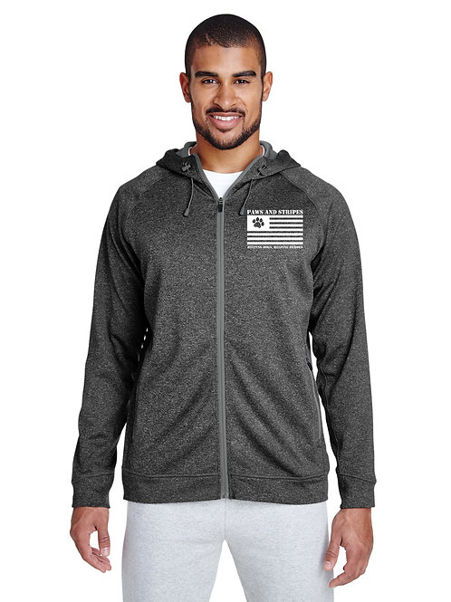 Paws and Stripes Zip Up Hoodie