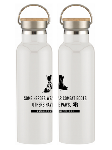 Water Bottle: Paws & Combat Boots