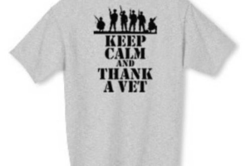 Keep Calm and Thank A Vet Shirt