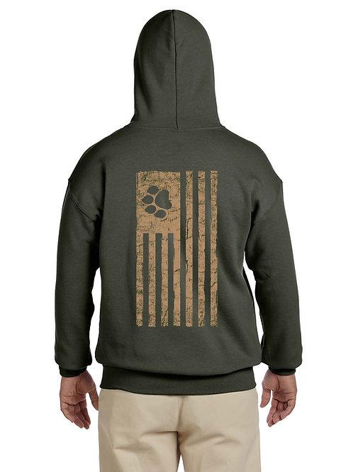 Adult Stamped Hooded Sweatshirt