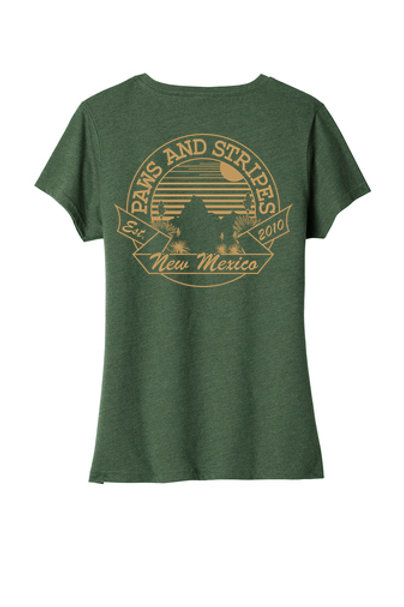 Desert Sunset Women's V-Neck T-Shirt