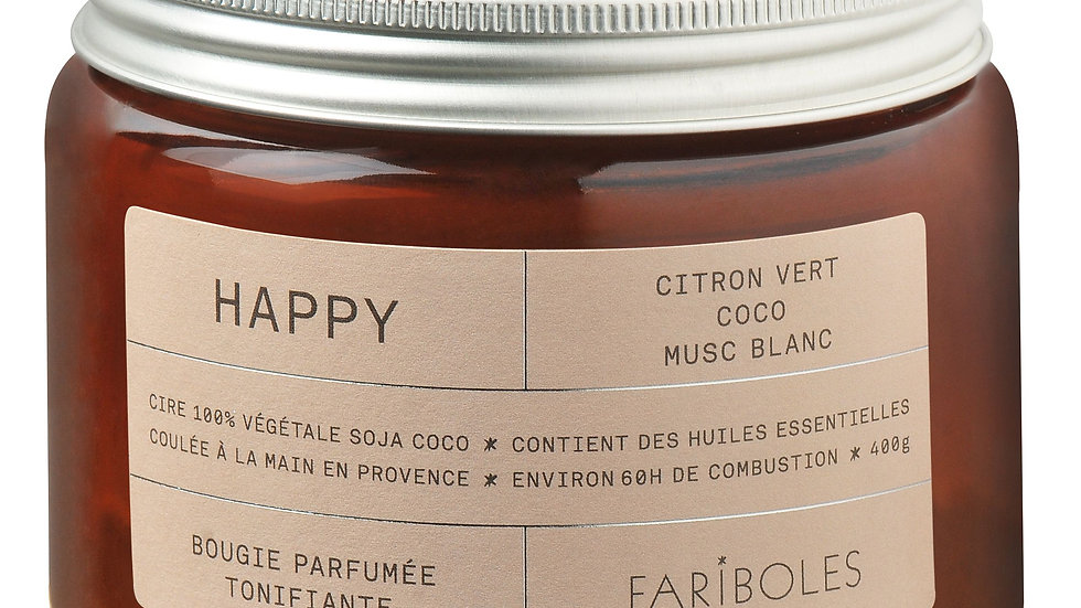 Bougie parfumée Happy 400g FARIBOLES