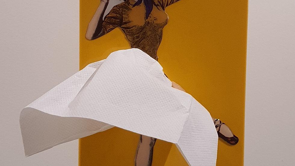 Boite de Mouchoirs Vintage Tissue Up Girl