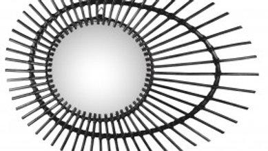 Miroir en Rotin Noir ZAGO