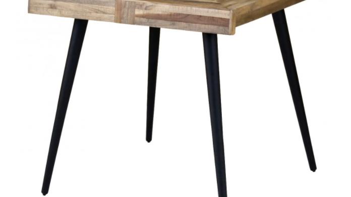Table teck et métal ZAGO