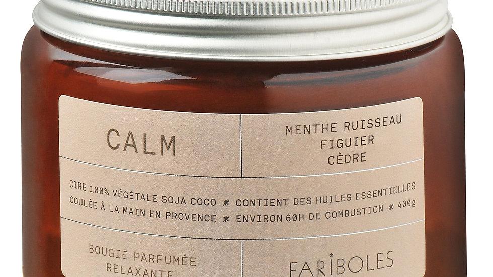 Bougie parfumée Calm 400g FARIBOLES