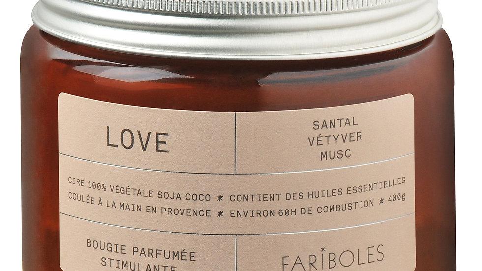 Bougie parfumée Love 400g FARIBOLES