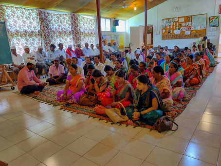 Meeting with villagers from the Grampari adopted villages