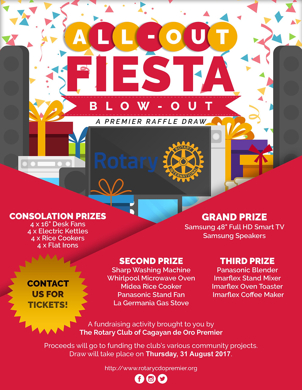 All-out Fiesta Blow-out Raffle Draw Fundraiser