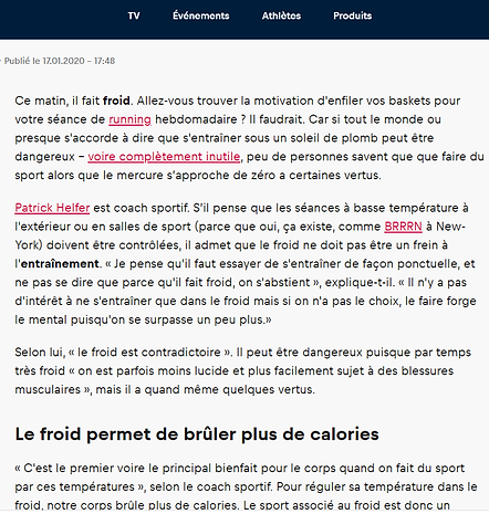 Patrick HELFER Personal Trainer coaching sportif Paris Red Bull