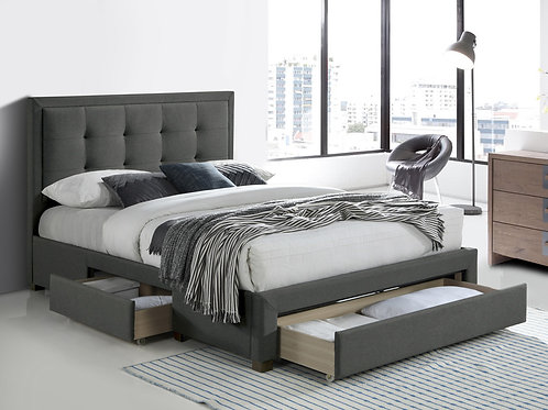 3 Drawer Fabric Bed Frame