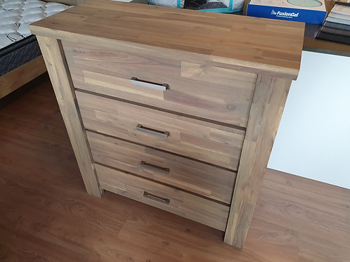 Timber Chest of Drawers (Emerald Grey)