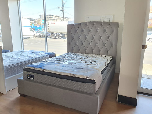 Ex-Display Elsa Queen Size Fabric Bed Frame
