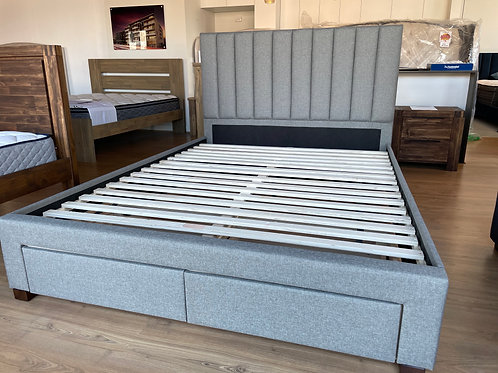 Manchester Fabric Bed Frame with 2 Drawers