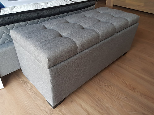 Fabric Ottoman w Storage (Blanket Box/Seat)