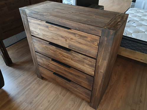 Timber Chest of Drawers (Caramel)