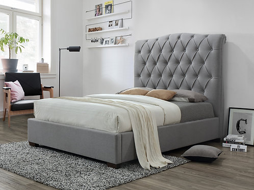Elsa Queen Size Fabric Bed Frame