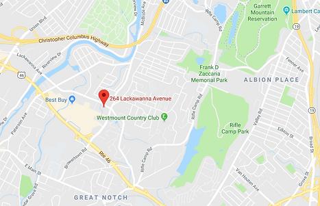 Map of studio location