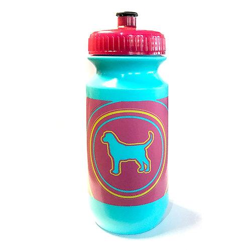 Bluedog Water Bottle: 21oz - Aqua & Pink