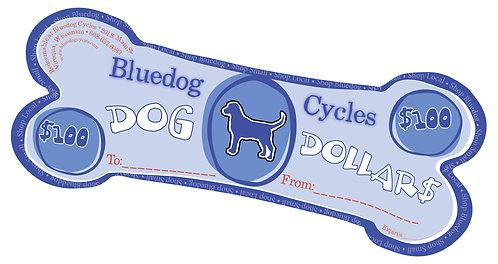 Dog Dollar Gift Certificates