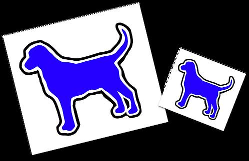 Bluedog Logo Stickers