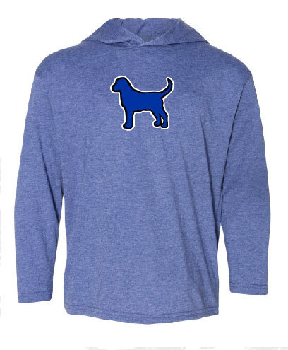 Bluedog Youth Long sleeve Hooded Shirt - Light Blue