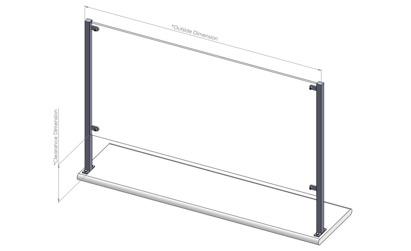 Stainless Steel Mounted Protection Dimensions
