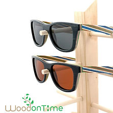 colorfulwooden watches and sunglasses by