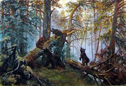 """Poranek w sosnowym lesie"""