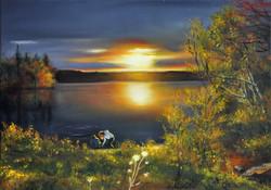 Adam i Marta nad Long Lake